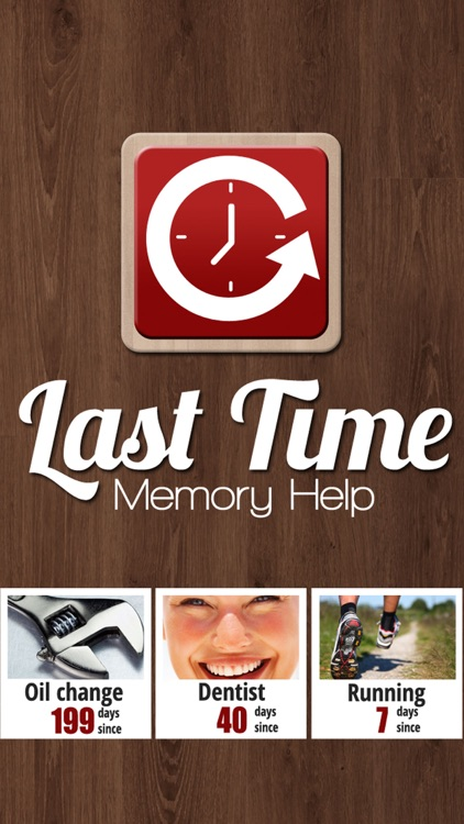 Last Time Memory Help: Remember it!
