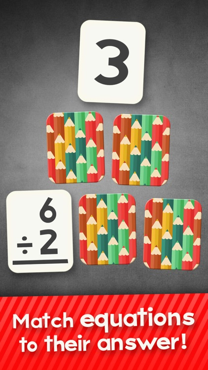 Division Flashcard Match Games for Kids in 2nd, 3rd and 4th Grade screenshot-0