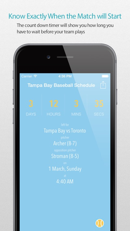 Tampa Bay Baseball Schedule Pro — News, live commentary, standings and more for your team!
