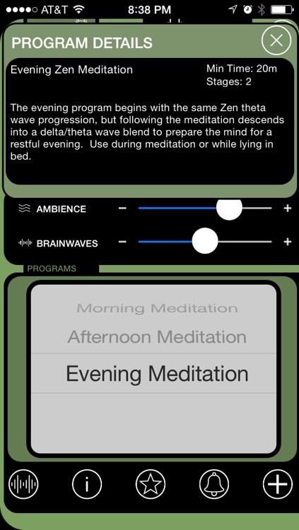 Brain Wave Zen Meditation - 3 Meditative Binaural Brainwave Entrainment Programs screenshot-0