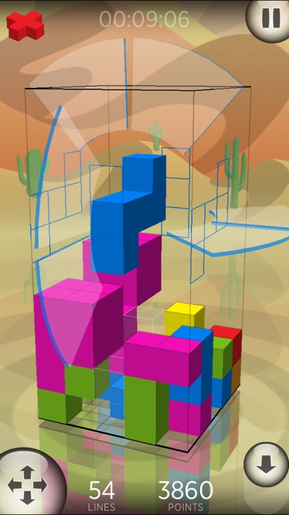 Fragmental 3D Lite - Build Lines with Falling Blocks! screenshot-1
