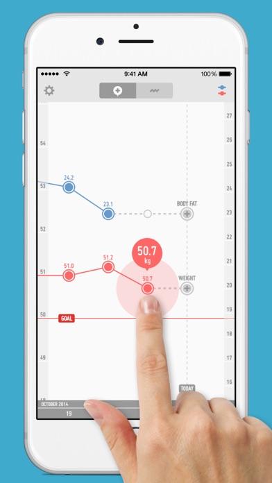 PopWeight - 体重管理が簡単にできるダイエット記録アプリのおすすめ画像1