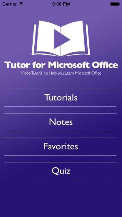Tutor for Microsoft Office for iPad - Learn Excel, Word, and Powerpoint for iPad screenshot-0