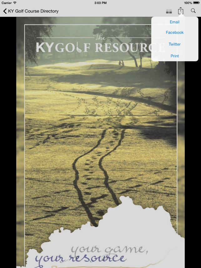 KY Golf Course Directory on the