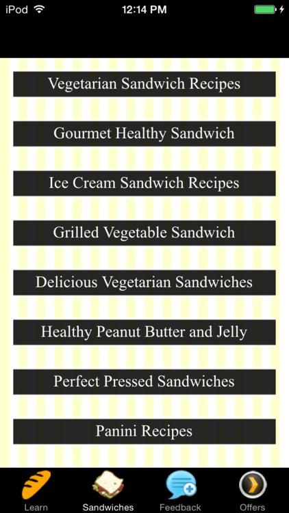 Tasty Sandwich Recipes - Superbowl Recipes screenshot-3
