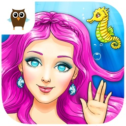 Mermaid Ava Hair Care, Make Up Salon and Dress Up - Kids Game