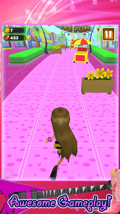3D Fashion Girl Mall Runner Race Game by Awesome Girly Games FREE screenshot-1