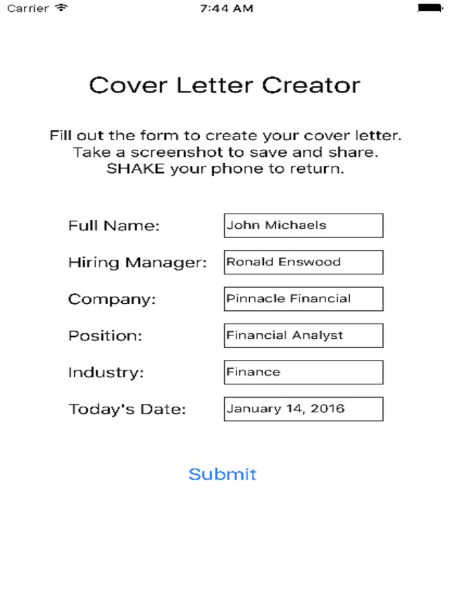 Cover letter creator on the app store cover letter creator on the app store thecheapjerseys Gallery