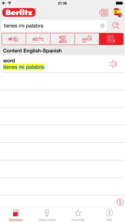 Spanish - English Berlitz Basic Talking Dictionary screenshot-1