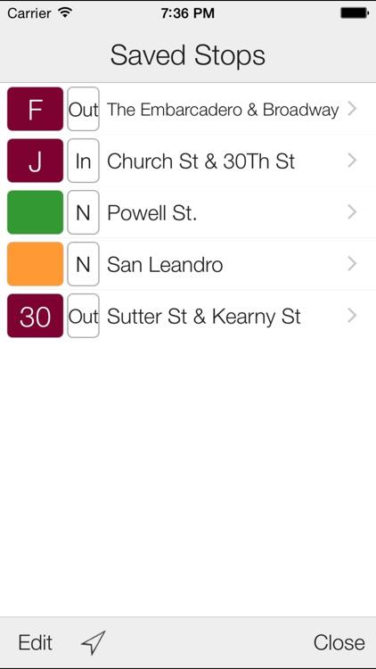 Transit Stop: MUNI & BART Tracker screenshot-3