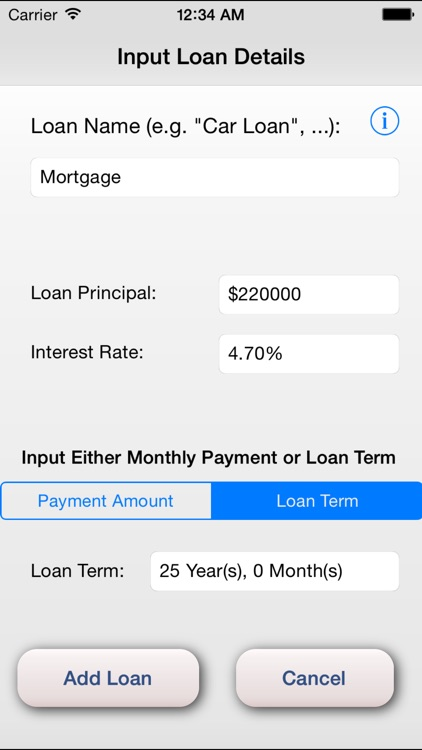 iCalc Loan - Loan Calculator with Interest, Payments and Snowball Payment Methods