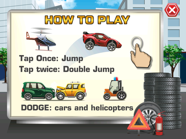 Big Auto Racing vs Grand Traffic, game for IOS