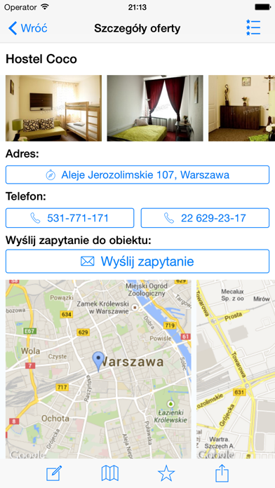 Noclegi, Hotele w Polsce screenshot three