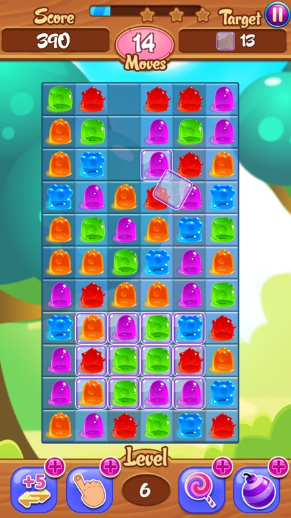 Juicy Jelly Bean Candy Drop: Sweetest Match 3 Gum Delicious Challenging screenshot-3