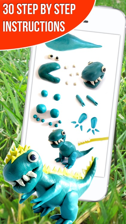 Dinosaurs. Let's create from modelling clay. Wikipedia for kids. Dino pets creative craft.