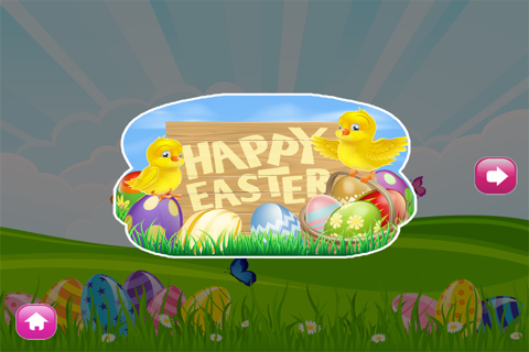 Easter Coloring Book - Spring-time Art fun for Preschoolers: Eggs , Chicks and more Pages screenshot 3