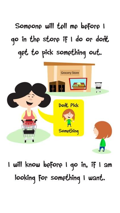 Going Shopping Social Story About Good Store Behavior For Children screenshot-4