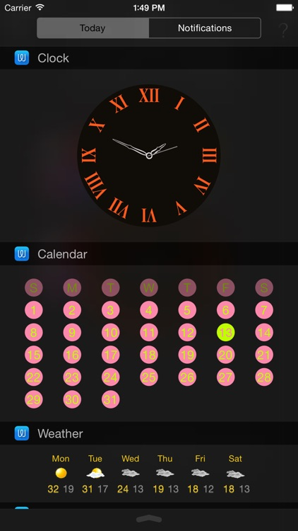Widget Pro - Add Custom Widgets to Notification Center (Today View) screenshot-3