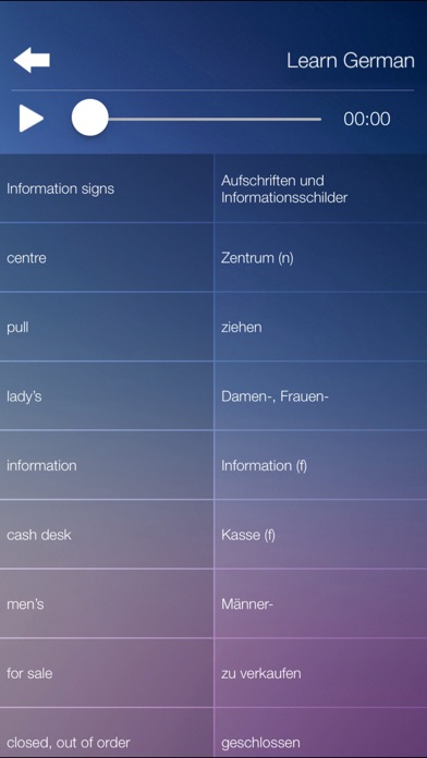 Learn GERMAN Fast and Easy - Learn to Speak German Language Audio Phrasebook and Dictionary App for Beginners Screenshot on iOS