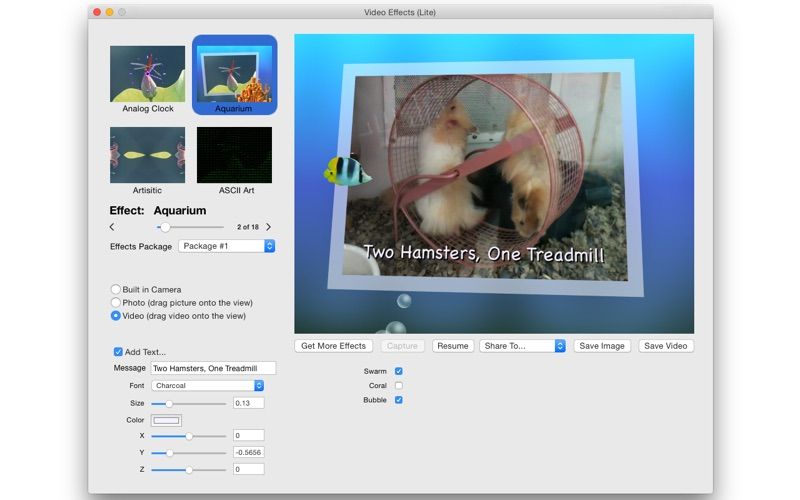 VideoEffectsLite Screenshot
