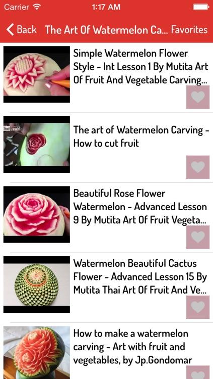Fruit Carving Ideas