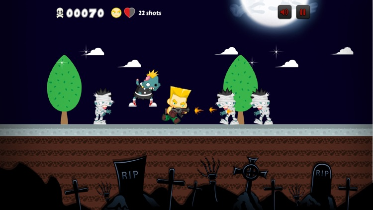 Fighter King VS Hungry Zombie - Action Shoot Game
