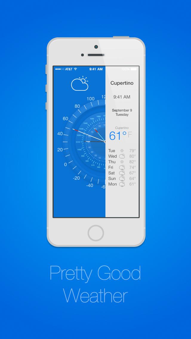 Pretty Good Weather - 無料天気予報&iPhone用バロメーターのおすすめ画像1