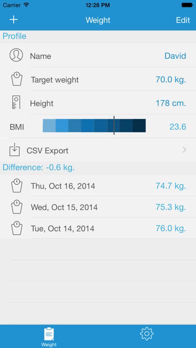 体重トラッカー - あなたの体重とBMI値をコントロール!のおすすめ画像1