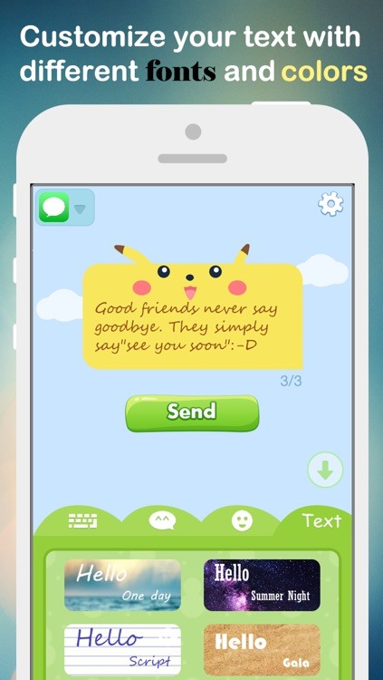 Fancy Message-Pimp Text with Emoji Keyboard, New Color Bubble and Textart FREE screenshot-4