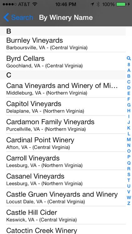 Virginia Winery Finder
