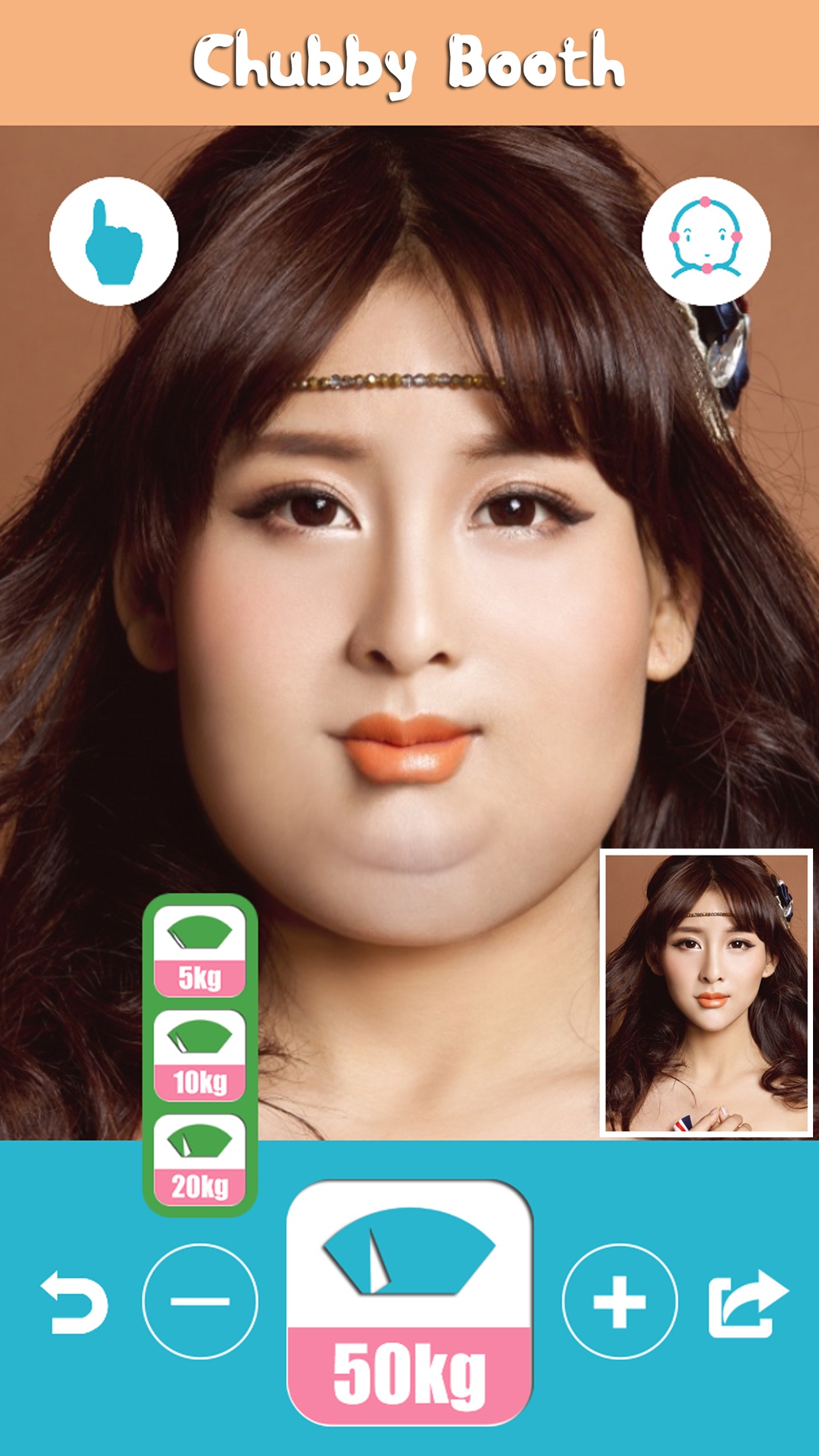 Chubby Booth -Make You Face Fat,Plump &Skinny,Insta Pic Editor Screenshot