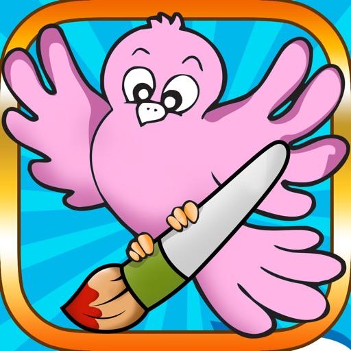 Активность! Книжка-раскраска Птиц Для Детей: Рисунки, Как Пингвин, Утки, Совы, Фламинго И Попугай