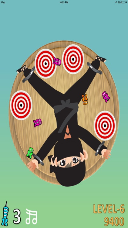 Darts Ninja - Be A Crazy Pro And Avoid The Clumsy Victim screenshot-3
