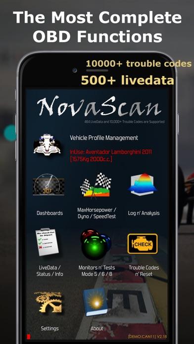 NovaScan - The OBD Total Solution screenshot one