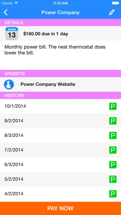 Simple Bill Tracking and Reminders