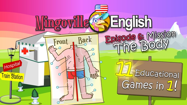 Body Parts in English - Kids Learn About Anatomy with Words and Pictures