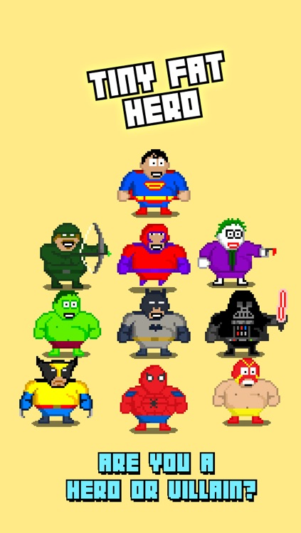 Tiny Fat Hero - Play Free 8-bit Retro Pixel Fighting Games