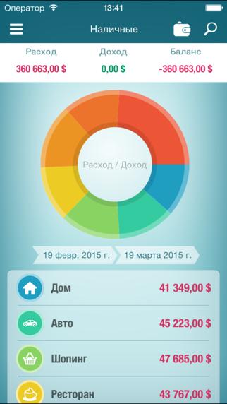 Money Planner Pro - учет расходов, личные финансы, семейный бюджет.Скриншоты 2