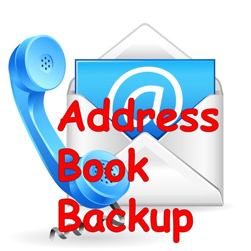 One click Address Book Backup icon