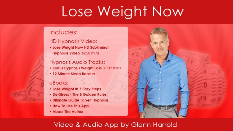 Lose Weight Now Hypnosis HD Video App by Glenn Harrold