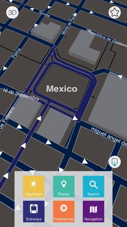 Mexico - Offline Map & City Guide (w/ metro!) screenshot-4