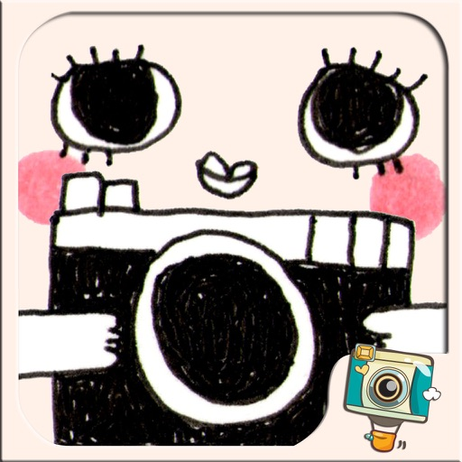 WeirdCamera by Photo Up - Funny cute doodle stamps Word Fram Filter Cartoon iOS App