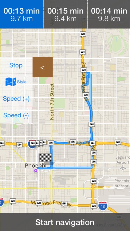 Arizona/Phoenix Offline Map & Navigation & POI & Travel Guide & Wikipedia with Traffic Cameras Pro