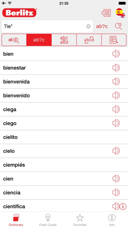 Spanish - English Berlitz Basic Talking Dictionary screenshot-2