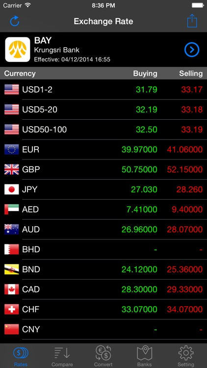 Thai Baht Exchange screenshot-0