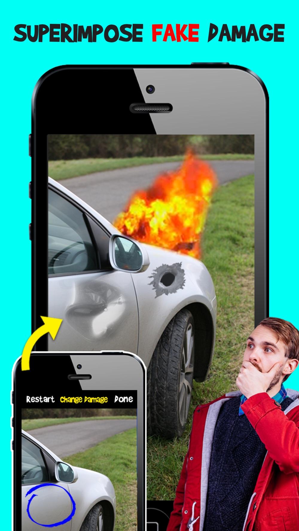 Damage Cam – Fake Prank Photo Editor Booth Cheat Codes
