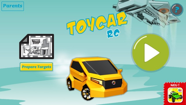 Toy Car RC - Drive a Virtual Car in the Real World with Augmented Reality Screenshot