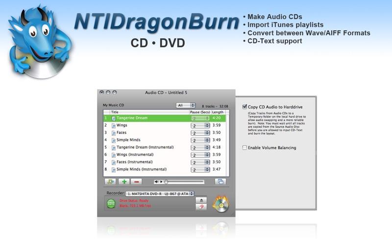 NTIDragonBurn for Mac
