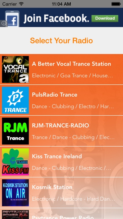 Trance Music Radio -  House, Techno Electronic Music