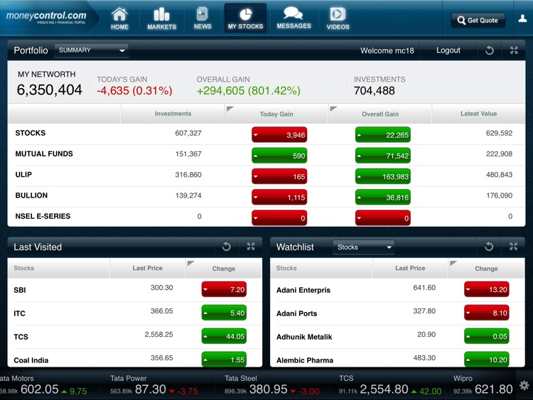 Moneycontrol Markets on iPad screenshot-4